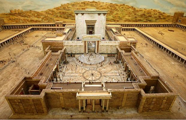 "The ""House of God"" is really a building inside the Temple complex. Herod's building was constructed to the dimensions given for Solomon's temple."