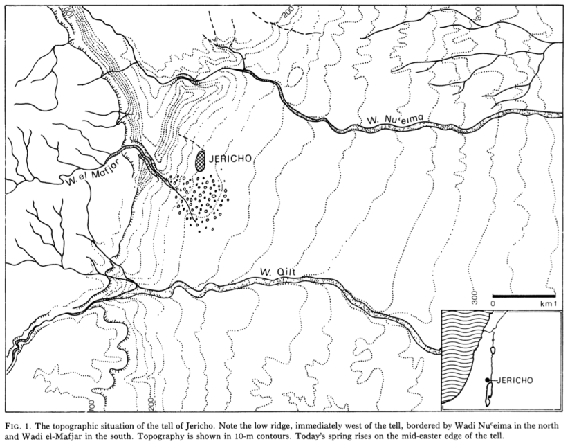Topographical Map of the Site of Jericho